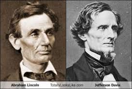 Abraham Lincoln and Jefferson Davis | Dopplegangers (Look ...