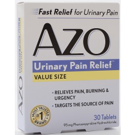 AZO Standard Urinary Pain Relief 30 Tablets