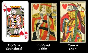 The English Pattern, playing cards