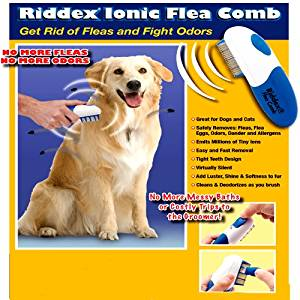 Amazon.com: RIDDEX IONIC FLEA COMB FOR DOGS AND CATS ...
