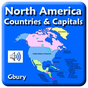 Amazon.com: North America Countries and Capital Cities ...